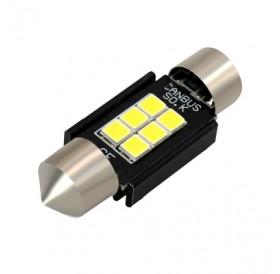 2PCS White 31mm Osram 3030 6 SMD Car Festoon Canbus Error Free License Plate Bulb