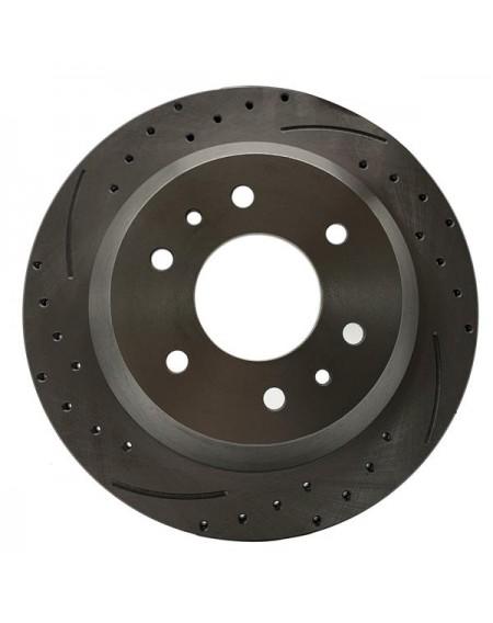 1 Set /2 BD126029 55073 Streaked Rear Brake Disc Silver