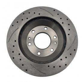 1 Set /2 BD126027 55069 Streaked Front Brake Disc Silver