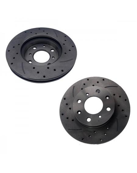 1 Set /2 BD125006 31029 Streaking Front Brake Disc Silver