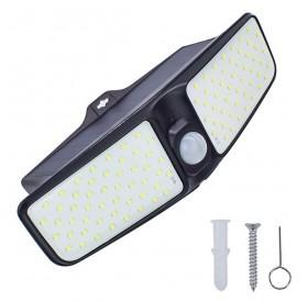 100LED 600LM 25W body sensing outdoor waterproof solar garden wall lamp