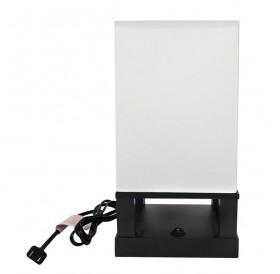 40W (Without Light Bulb) Table Lamp US Standard Black Four-Corner Base (Dual USB Interface) ZC001286