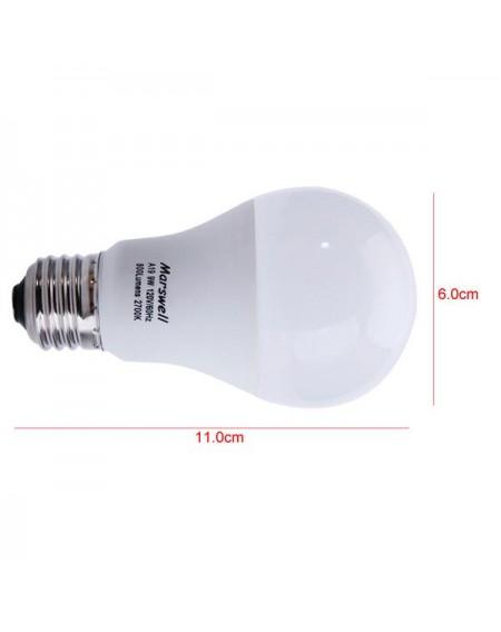 12pcs 60W A19/A60 3000-3500K Warm White Light LED Light Bulbs Kit White