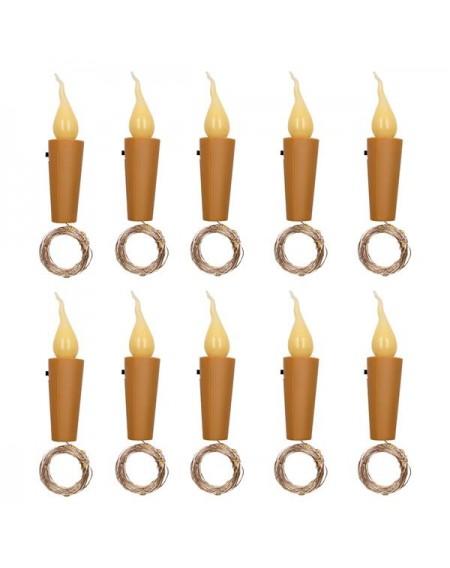 10x Warm Wine Bottle Candle Shape String Light 20 LED Night Fairy Lights Lamp
