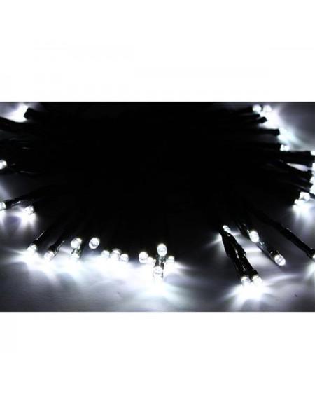50LED Solar Powered White String Light Xmas Garden Deco
