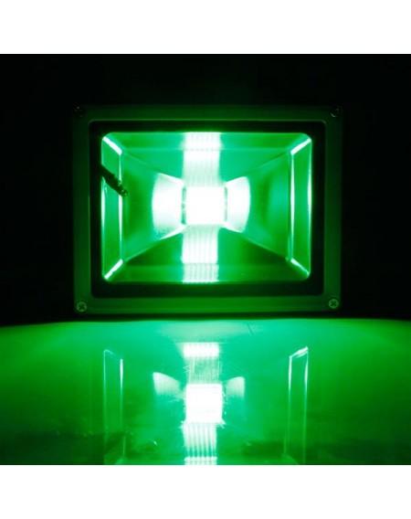 20W IP65 Waterproof RGB Aluminium Alloy LED Flood Light with Remote Control & Memory (AC 90-260V) Gr