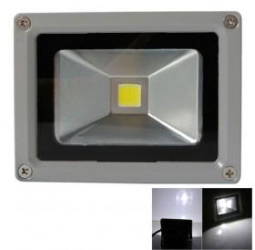 10W 6000-6500K White Light Aluminium Alloy LED Flood Light with IP65 Waterproof Gray