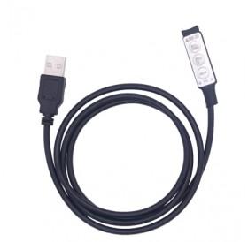 0.5M DC5V USB Mini Dimmer Wire with 3 Key 4-Pin LED RGB Controller 2PCS